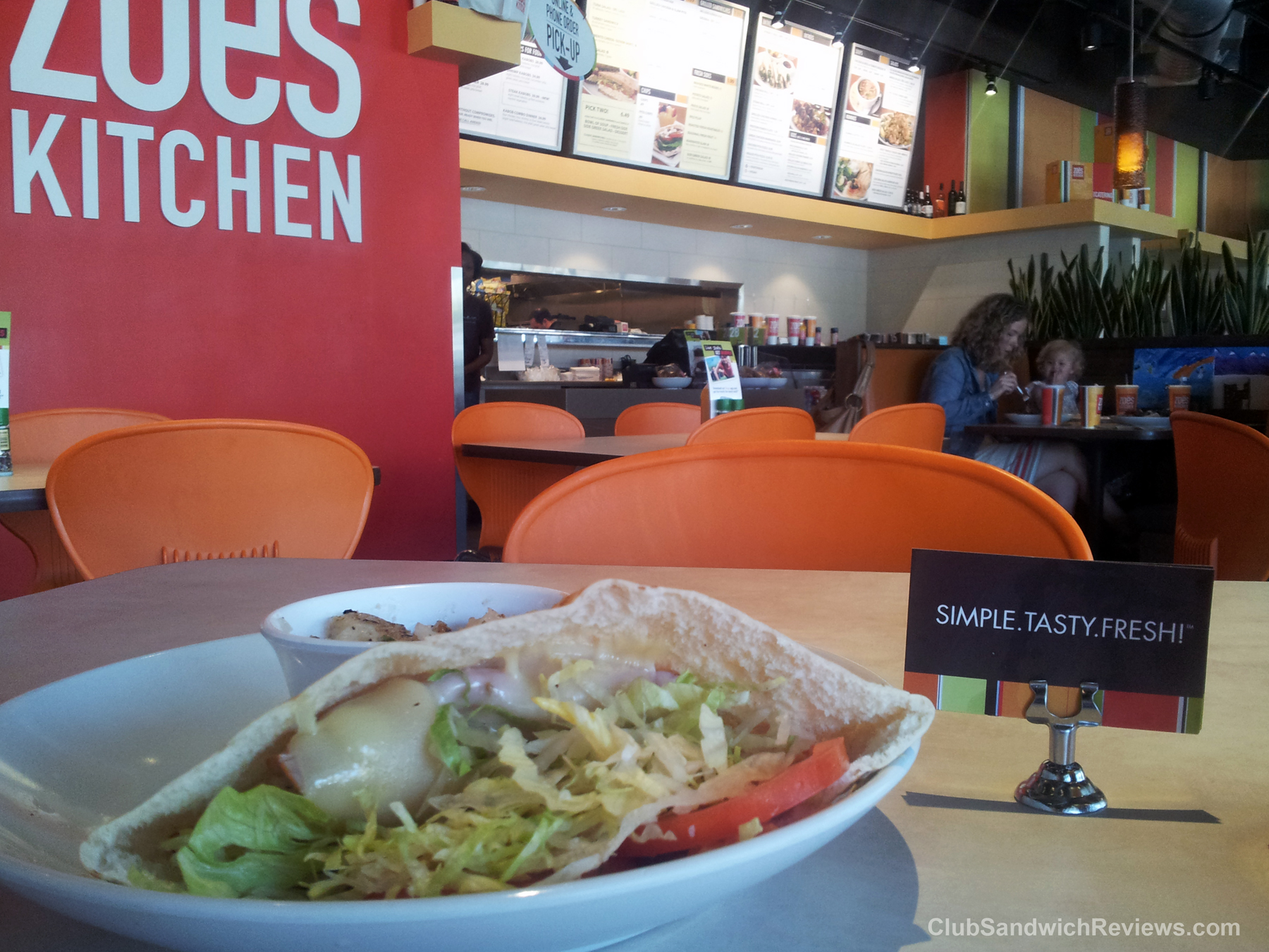 Zoe\'s Kitchen Club Pita Reviewed at Club Sandwich Reviews dot Com