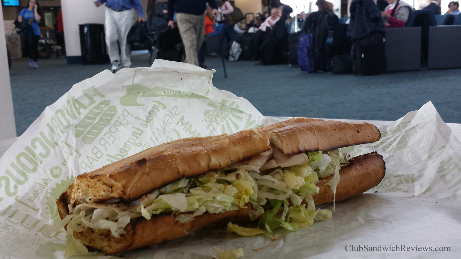 The Ultimate Turkey Club from Quiznos in Palm Beach Airport Reviewed